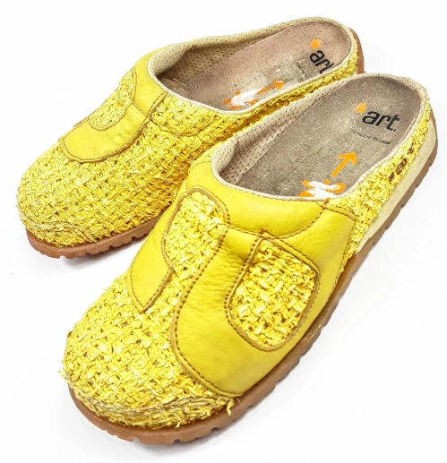 womens yellow vintage clogs size uk 4
