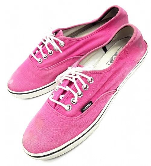 womens vintage pink vans size 6