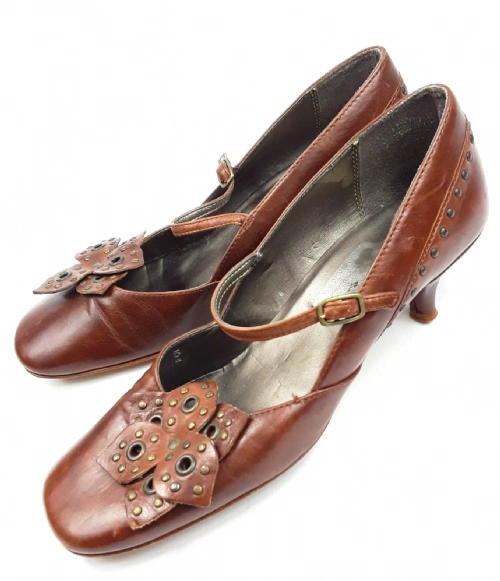 2005 true vintage womens leather dolly shoes uk 5