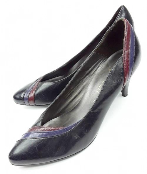 1980's womens true vintage clarks leather heels size uk 7