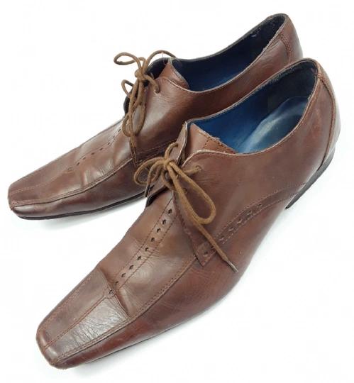 mens true vintage leather lace shoes size 8