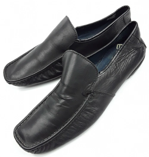 mens top quality soft leather retro slip on shoes, size 10