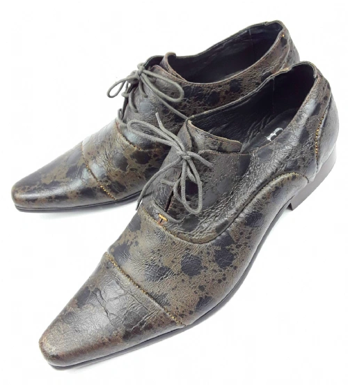 2008 mens retro pointed formal lace shoe size 10