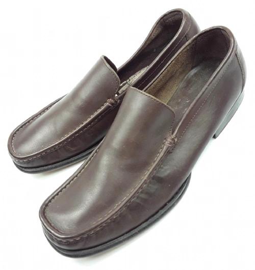 mens vintage brown leather slip on shoes size uk 10