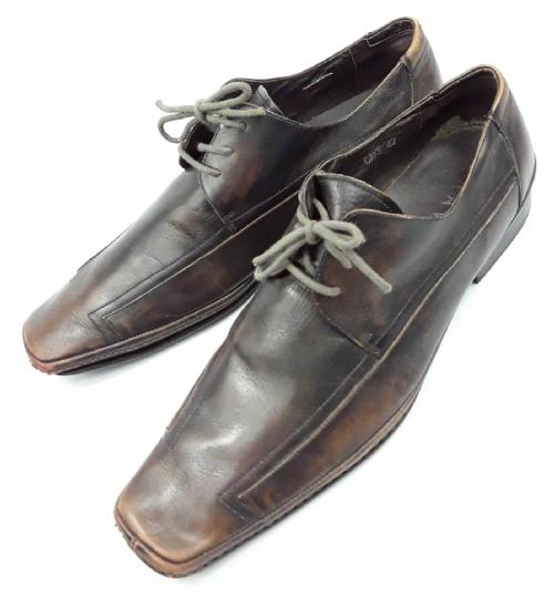 brown vintage formal shoe mens size uk 8.5 eu 42