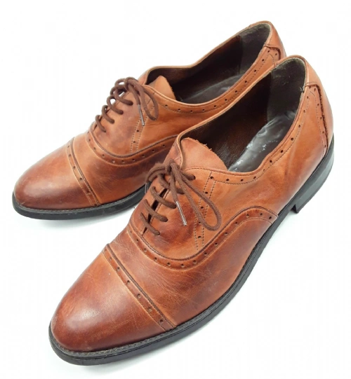 mens true vintage brown leather brouges size uk 13