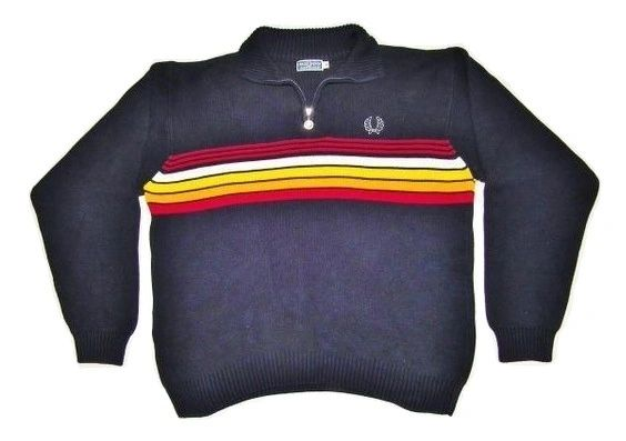 mensmens true vintage fred perry wool sweater size medium