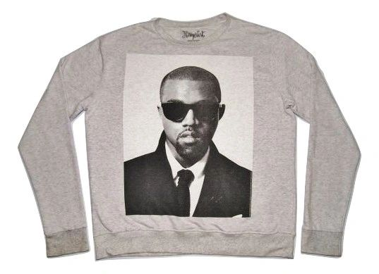 2012 retro print kayne west sweater size L-XL