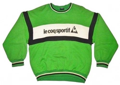 original 80's oldskool le coq sportif sweater size S-M