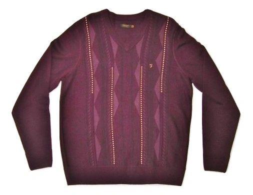 oldskool style vintage farah jumper size medium