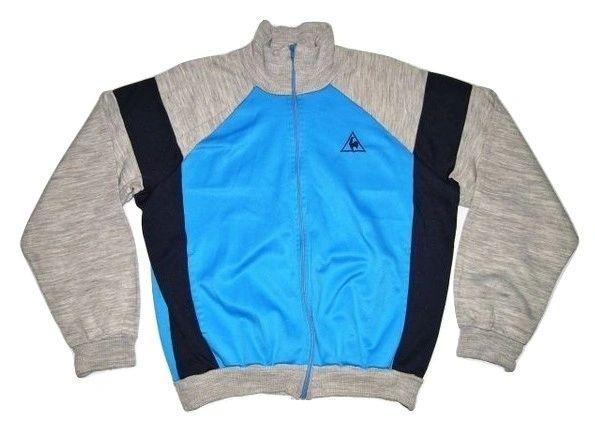 original vintage le coq sportif tracksuit top blue size S-M