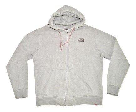 mens vintage northface grey hoodie size large