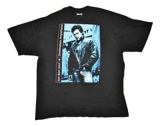 mens true vintage bon jovi concert tshirt size XL 1990