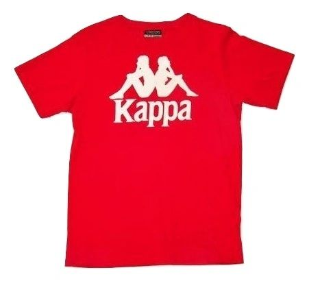 true oldskool vintage red kappa tshirt size 8-10 mid 1990's