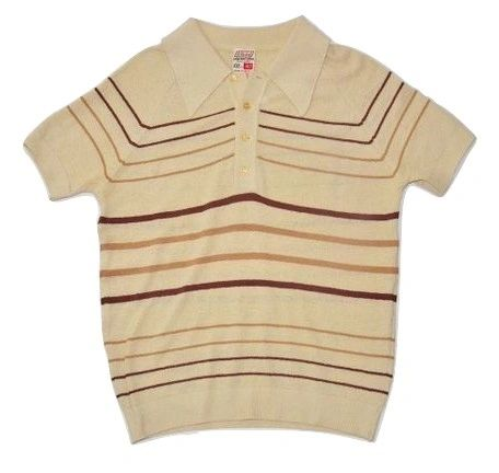 original true vintage 70's mens fly collar tshirt size small