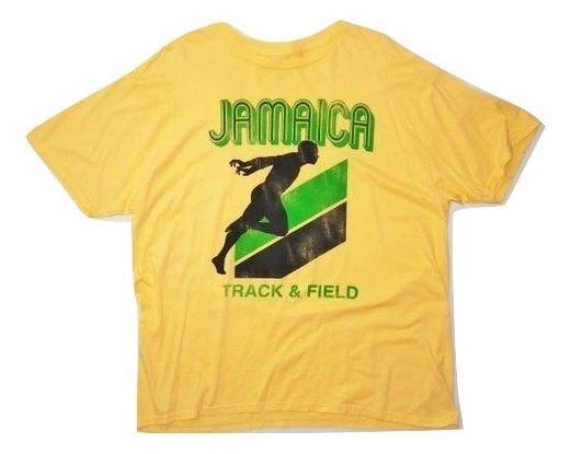oldskool retro tshirt jamaica track and field size uk