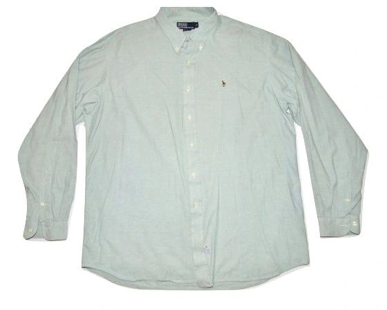 true vintage ralph lauren unisex shirt XL green