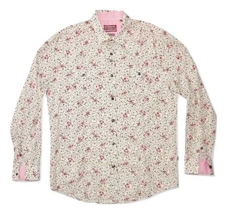 vintage flower print jeff banks cotton shirt size L