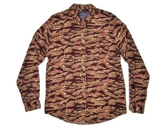 retro crazy pattern mens shirt size large.