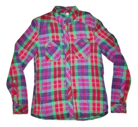 mens vintage red checked shirt size small