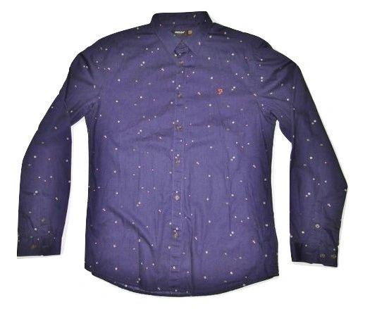 mens farah vintage classic blue shirt size L