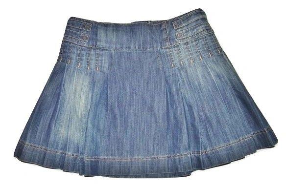 vintage retro denim short skirt size 14
