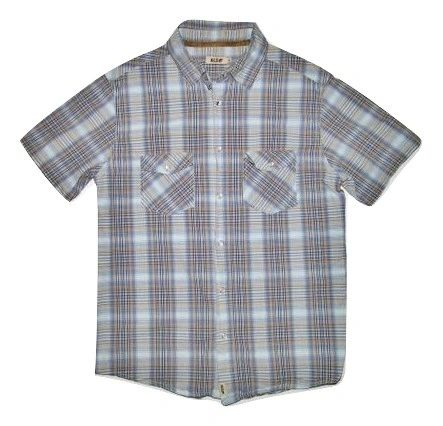 retro checked short sleeve shirt size M