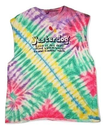 oldskool retro tye dye long sleeveless tshirt size xl-xxl