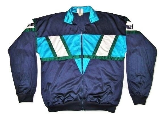classic true vintage retro hummel sports jacket size XL
