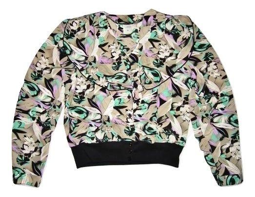 womens true oldskool retro flower chiffon blouse size 14