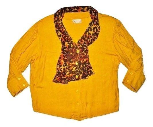 80's classic vintage womens ruffle blouse size M