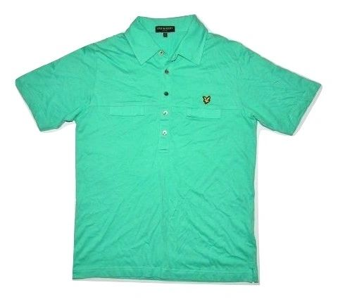 classic retro lyle scott vintage range polo shirt size M