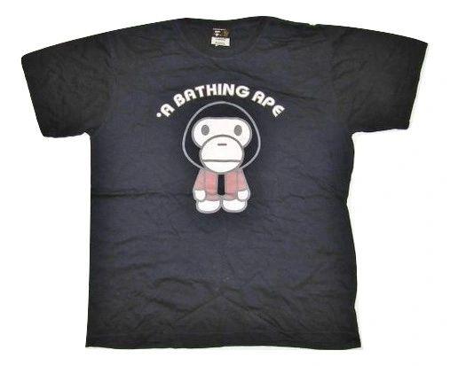 2006 oldskool bape baby milo logo tshirt size Medium