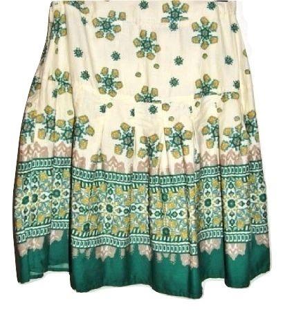 true vintage retro flower skirt size 10