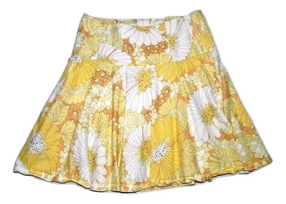 Vintage Northern soul flower flare skirt M-L