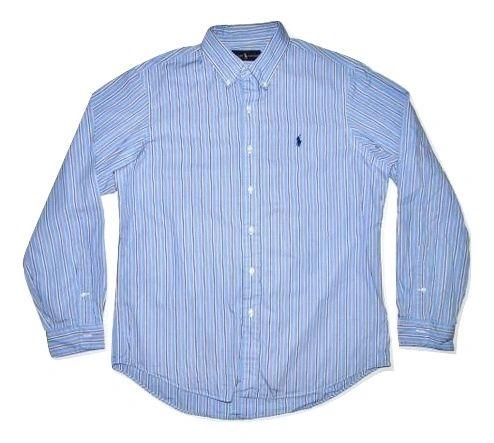 retro vintage ralph lauren pin stripe shirt size large