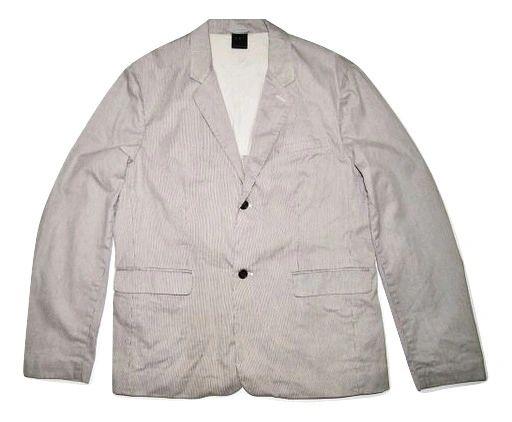 mens retro black and white pin stripe suit blazer size XL