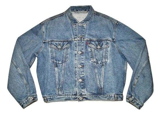 mens true vintage Levis stonewash denim jacket size M-L