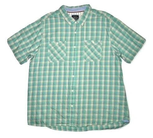 mens quality retro check short sleeve shirt size XXL