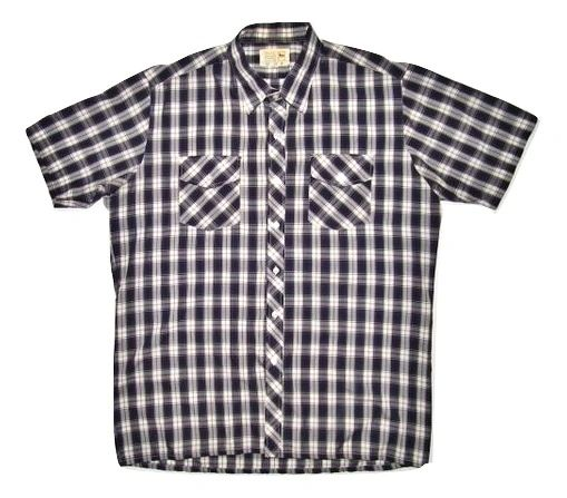 true vintage checked short sleeve shirt size L-XL