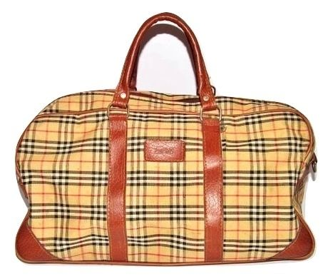 true vintage leather canvas holdall early 90's