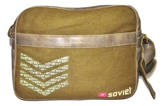 mens vintage green army carry bag