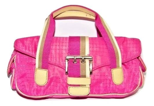 small retro pink DKNY handbag