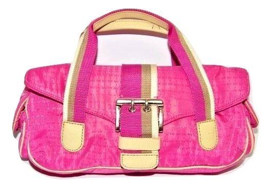 small retro pink DKNY handbag