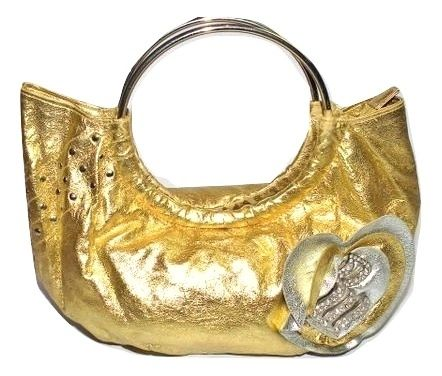 retro gold rocawear handbag