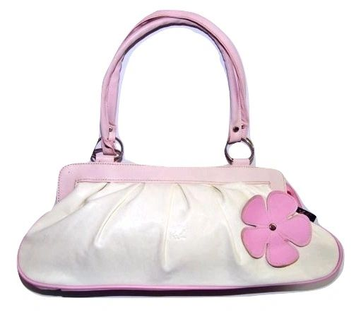 vintage retro flower leather handbag
