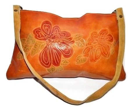 true vintage cowhide leather mini shoulder bag
