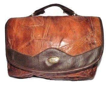 true vintage leather shoulder handbag
