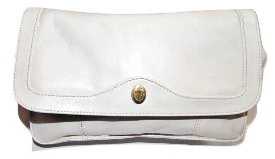 1980's true vintage jane shilton white leather handbag