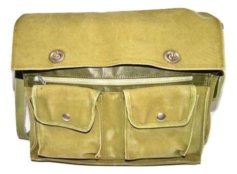 true vintage army shoulder satchel